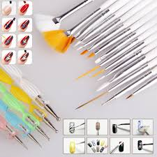 20pcs nail art design set dotting painting drawing polish brush