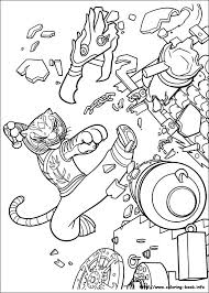kung fu panda 2 coloring picture coloring activities