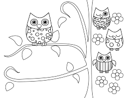 coloring page for adults owl owl color pages drawing kids hanslodge cliparts