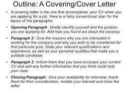 good cover letter opening paragraph