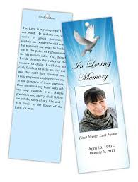 memorial bookmarks memorial bookmark templates funeral bookmarks obituary bookmark