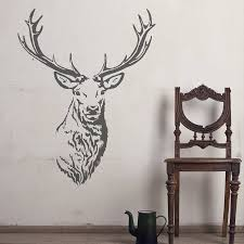 wooden stag wall wooden stags