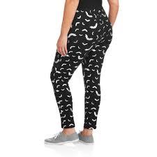 plus size halloween tights faded glory women u0027s plus size halloween bats essential leggings