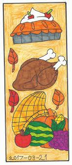 thanksgiving bookmark by katarinathecat on deviantart