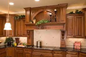ceiling remarkable wood range stove hood in chic brown wood