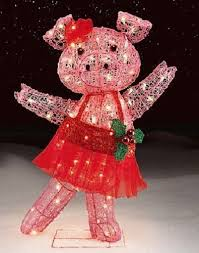 lighted christmas decorations indoor animated dancing pig lighted christmas decor indoor outdoor