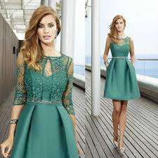 2016 new arrival short mother of bridal dresses with jacket lace
