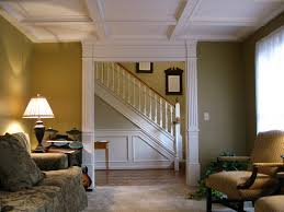 interior design painted coffered ceiling cost in brown for home
