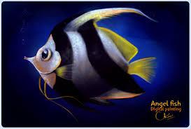 artstation angelfish digital painting chandan singh