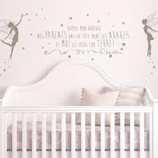 stickers pour chambre bébé fille stickers muraux chambre bebe pas cher