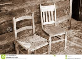 Rocking Chairs On Porch Antique Wooden Chairs On Porch Royalty Free Stock Photo Image