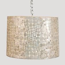 Lighting Faux Chandelier Capiz Mirror West Elm Capiz Chandelier