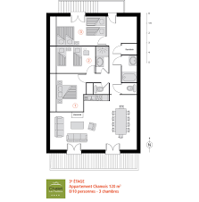 plan appartement 3 chambres chamois apartment 8 10 120 m 1 291 ft 3 bedrooms