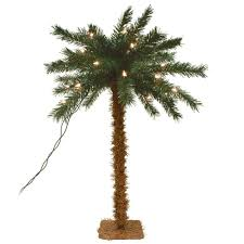 lighted table top palm tree pre lit trees trees