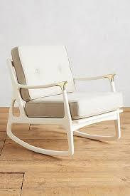 cream midcentury rocking chair