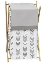 Space Saving Laundry Hamper by Sweet Jojo Designs Grey And White Mod Arrow Collection Laundry