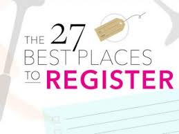 top places for wedding registry top wedding registries best 25 places to register for wedding