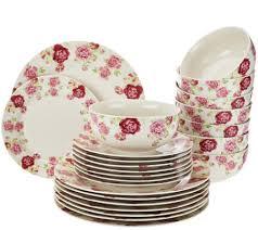 gorham 32 pc floral porcelain service for 8 dinnerware set page