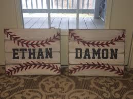 Baseball Bedroom Set Baseball Signs I Made For The Nephews U0027 Bedrooms Pallet Sign