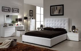 White Leather Bedroom Chair Bedroom Cheerful White Leather Round Wooden Chair And Dark Brown