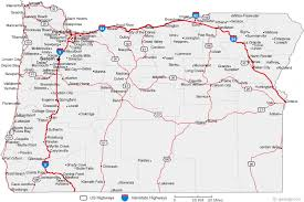 map of oregon state map of oregon cities oregon road map