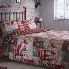 ho ho ho christmas tree santa patchwork reversible quilt duvet