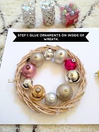 How To Make Wreaths Livelovediy How To Make A Christmas Ornament Wreath
