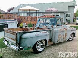 Classic Chevy Custom Trucks - late 50 u0027s apache frame up restoration looks like rusty gold