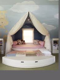 Daybed With Canopy Eclectic Kids Bedroom With Mural U0026 Bunk Beds Zillow Digs Zillow