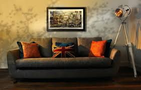 wooden bird wall decor living room striped fabric cushion