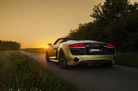 Audi R8 Gold - fostla goes for gold with the audi r8 spyder motoringexposure