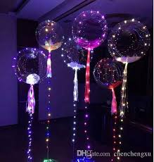 Lighted Balloons Bobo Balloon Multicolor Led Glow Party Holiday Decorations Helium