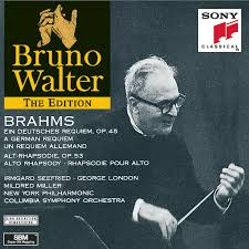 bruno walter brahms german requiem alto rhapsody the bruno