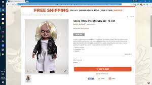 spirit halloween 2017 talking tiffany doll bride of chucky