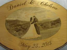 engravable guest book guest book alternative custom wood sign with engraved photo