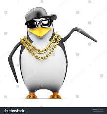 3d render penguin pointing side stock illustration 201726551