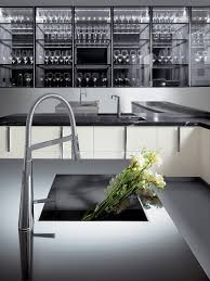 Black And White Kitchen With Curved Island Elektravetro by Ernestomeda Barrique Italian Modern Design Kitchens Barrique By