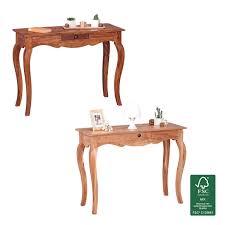 Arbeitstisch Finebuy Konsolentisch Massivholz Konsole Mit 1 Schublade