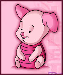 draw baby piglet step step disney characters cartoons