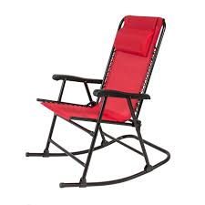 Outside Patio Chairs Folding Rocking Chair Foldable Rocker Outdoor Patio Furniture Red