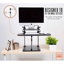 Stand Sit Desk by Uptrak Dual Level Standing Desk Adjustable Stand Up Desk Xl