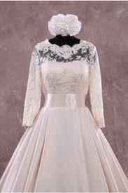 Modern Vintage Inspired Wedding Dresses Lb Studio By Cocomelody Court Train Lace Ivory Long Sleeve Open Back Wedding Dress