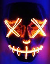Led Light Halloween Costume 2 Light Masks Led Rave Bandana Edm Costume Clothing Plur