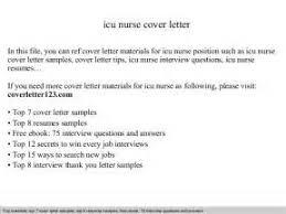 icu nurse cover letter sample livecareer 26 effective cover