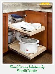 kitchen blind corner solution by shelfgenie corner kitchen shelf