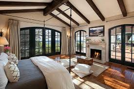 Interior Design For Master Bedroom With Photos Craftsman Master Bedroom With Exposed Beam Wall Sconce In Santa