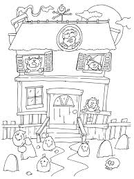 house drawing other simple haunted house coloring pages others