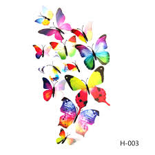 diu 12pcs 3d pvc magnet butterflies diy wall sticker home