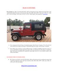 classic jeep modified racustomz best jeep u0026 4x4 modifier authorstream