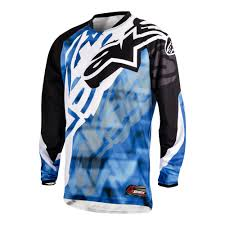 blue motocross gear alpinestars racer motocross jersey black blue motorcycle